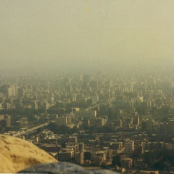 View over Cairo from top of Cheops