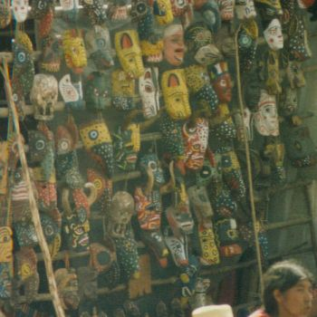 selling masks in Guatemala